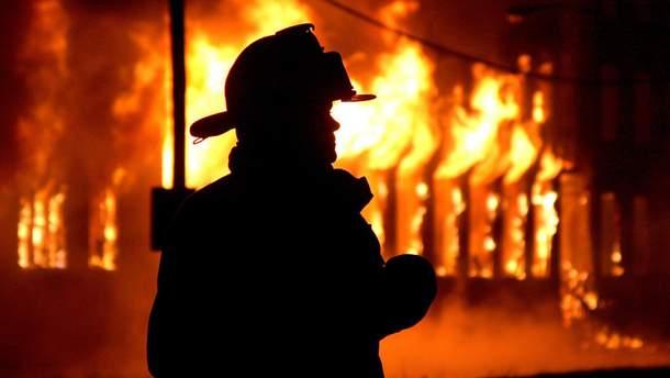 Пожар в Киеве (иллюстрация)