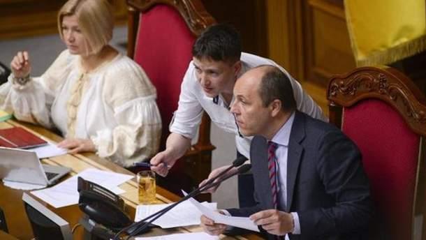 Надежда Савченко и Андрей Парубий