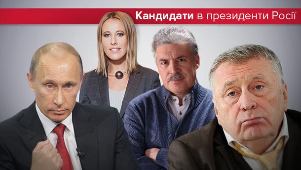 Кандидати в президенти Росії: хто чим прославився