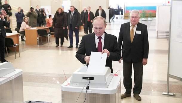 Выборы в России 2018: Путин проголосовал