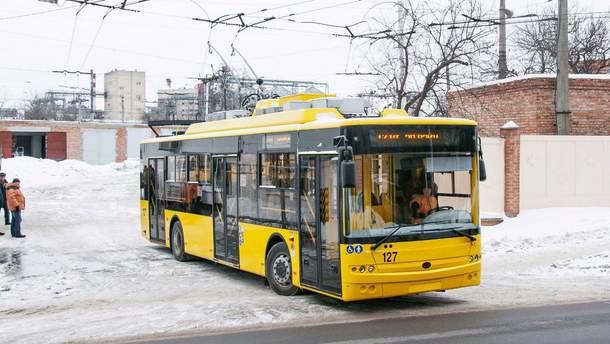 В Киеве троллейбусы изменили маршруты (иллюстрация)