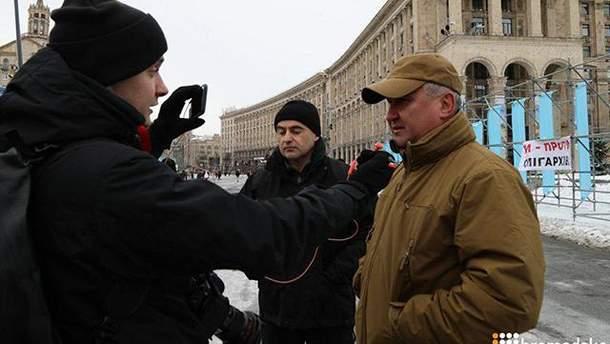 Василий Грицак пришел на Майдан Независимости
