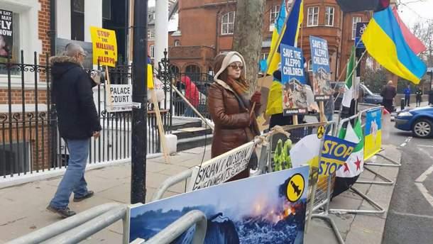 Лондонські активісти вишли на мітинг проти російської влади