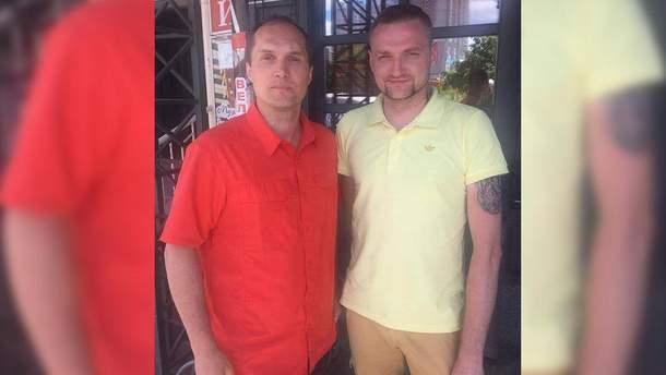 Льотчик-герой АТО Владислав Волошин (праворуч)