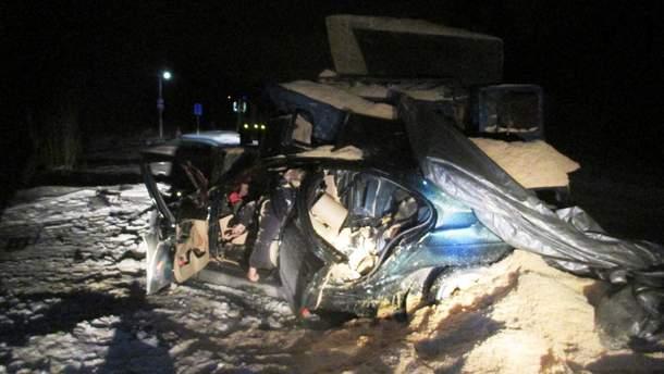 Место аварии в Киевской области