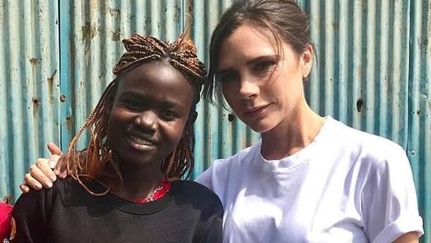 Виктория Бекхэм в Кении