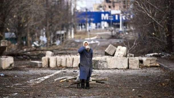 Из-за войны на Донбассе страдают мирные жители