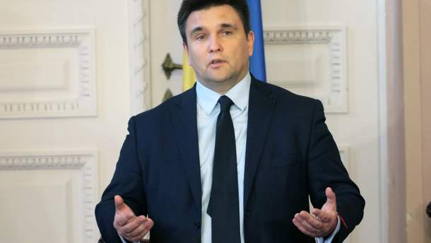 Клімкін не закликав ввести санкції проти Шредера