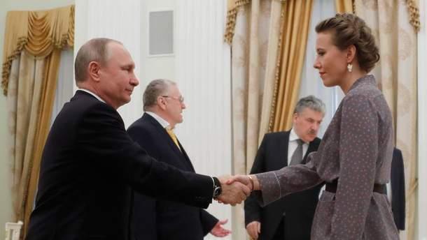 Володимир Путін зустрівся з кандидатами у президенти Росії