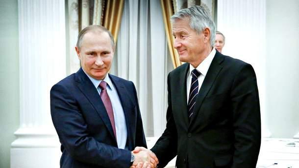 Турбьерн Ягланд поздравил Путина с переизбранием