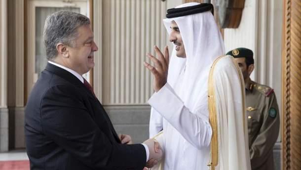 Порошенко з офіційним візитом у Катарі