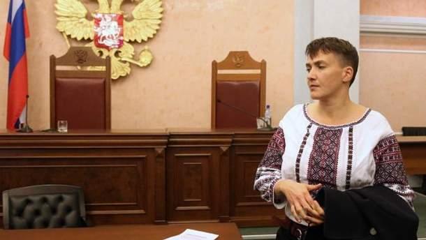 Надія Савченко під час поїздки у Росію