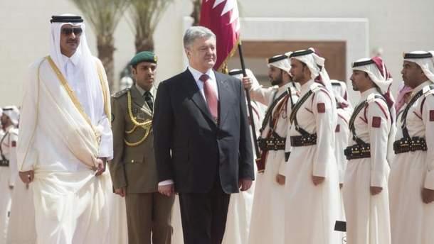 Петр Порошенко с официальным визитом в Катаре