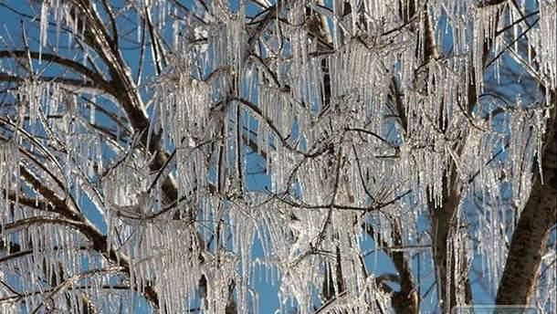 Набережная Одессы покрылась льдом