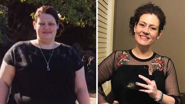 Аманда Вуд до и после похудения