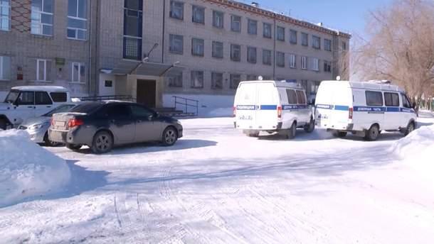 Школа где произошла стрельба в Шадринске