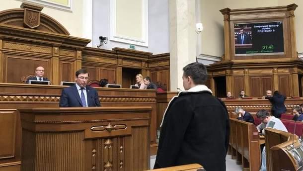 Верховна Рада знімає недоторканність з Надії Савченко