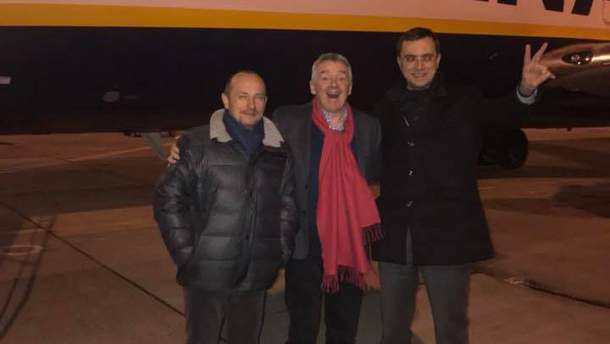 Глава Ryanair Майкл О'Лири прилетел в Киев