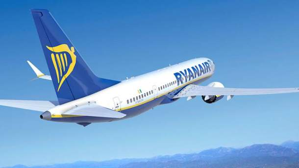 Ryanair начнет выполнять рейсы из Украины в октябре 2018