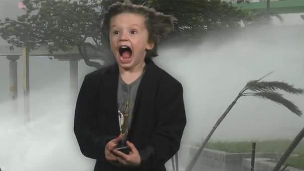 Маленький американець зняв свій прогноз погоди