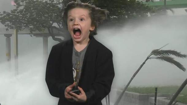 Маленький американец снял свой прогноз погоды