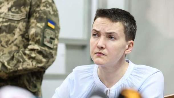 Надежда Савченко вместе с пророссийскими боевиками на Донбассе
