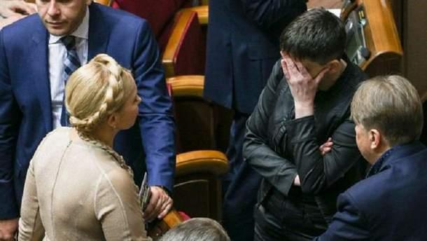 Тимошенко прокомментировала арест Савченко