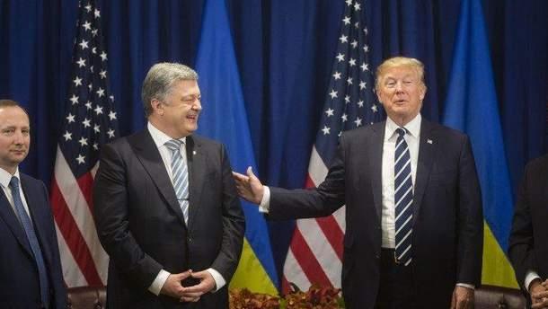 Порошенко поблагодарил Трампа за финпомощь для Украины