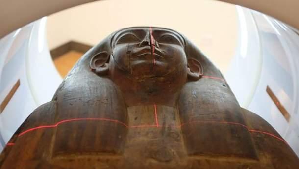 У саркофазі знайшли рештки людини