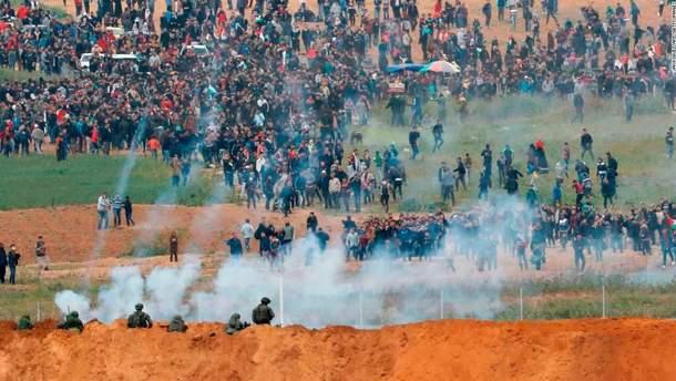 Сутички на кордоні сектора Газа та Ізраїлю