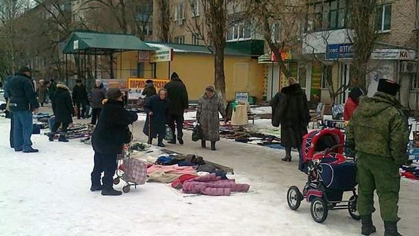Стихийные рынки в Луганске