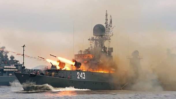 Ракетные учения российского флота