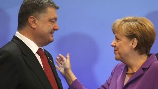 Порошенко и Меркель