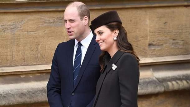 Кейт Миддлтон и Елизавета II посетили пасхальное богослужение