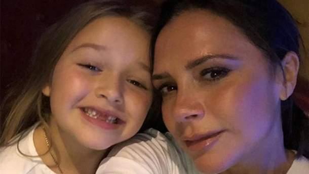 Вікторія Бекхем з донькою Харпер