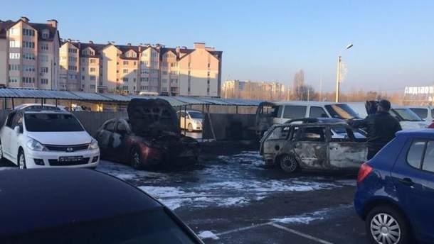 Пожар в Борщаговке