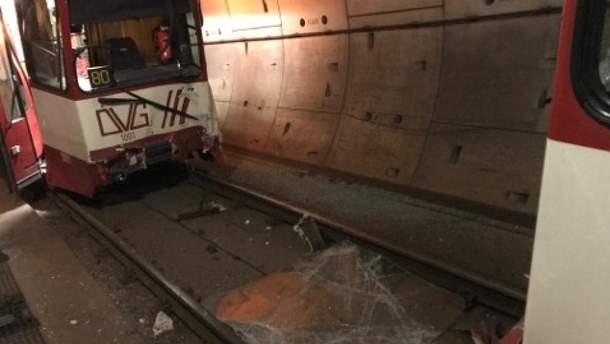 В Германии столкнулись два поезда метро
