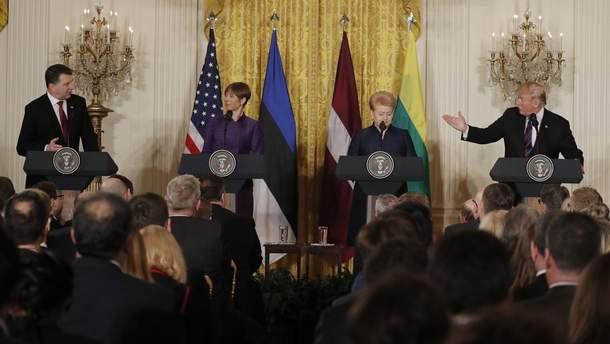 Трамп з лідерами країн Балтії