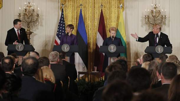 Трамп с лидерами стран Балтии
