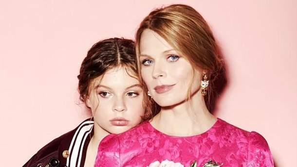 Ольга Фреймут з донькою Златою