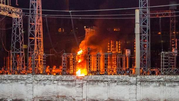 Ночью горела Приднепровская ТЭС