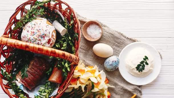 Пасхальная корзина: что святят на Пасху в церкви из продуктов в Украине