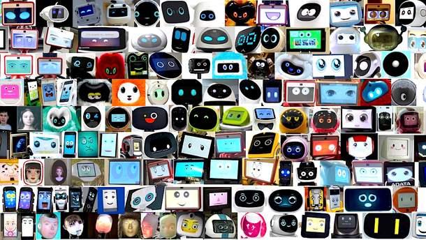 Исследование экранных лиц роботов