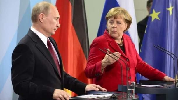Володимир Путін і Ангела Меркель