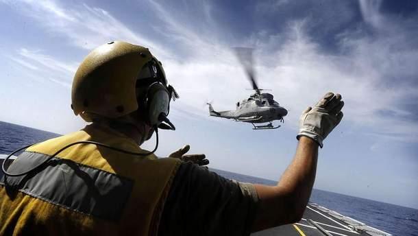 Військовий вертоліт Італії розбився у Середземному морі