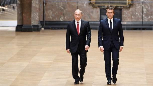 Макрон стимулював Путіна тиснути на Дамаск, щоб зупинити ескалацію в Сирії