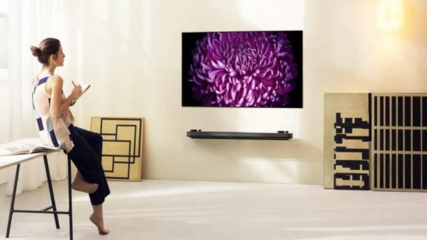 В Україні стартував продаж нових OLED-телевізорів LG W7