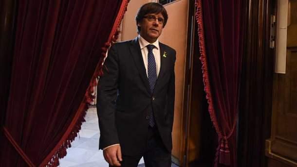 Карлес Пучдемон вийшов під заставу