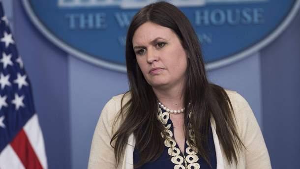 Официальный представитель американской администрации Сара Сандерс