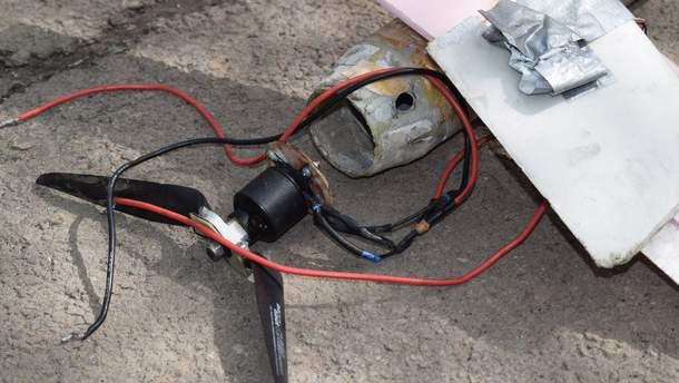 На Донбасі знайдено розбитий безпілотник проросійських бойовиків